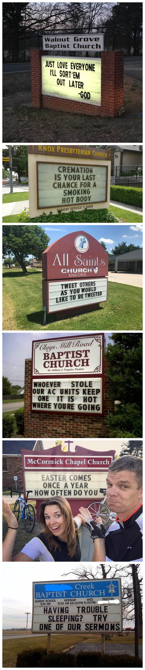 Hilarious Church Noticeboards From Around The World