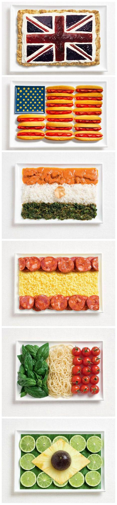 Flags Made From Food