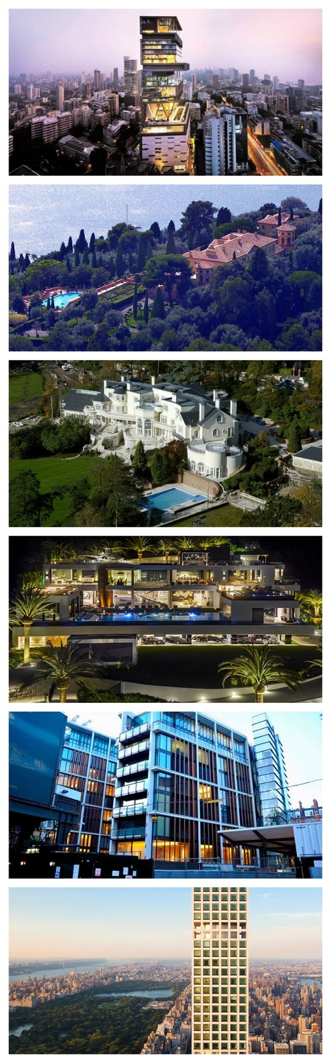 Six of the World's Most Extravagant Homes