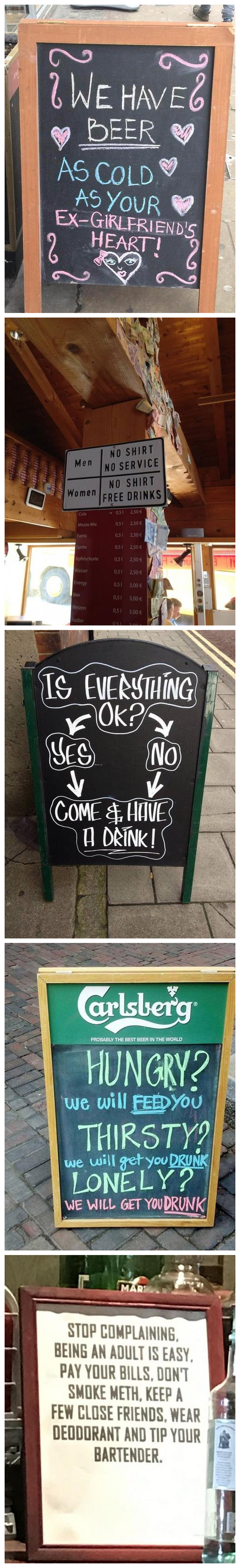 Funny and Creative Pub Signs